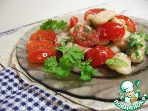 Рецепт Салат из белой фасоли и помидоров