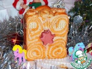 """Рецепт Новогодний томатный хлеб с итальянскими травами """"Звездочки"""""""