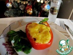 Рецепт Горячая закуска из паприки с крем-сыром