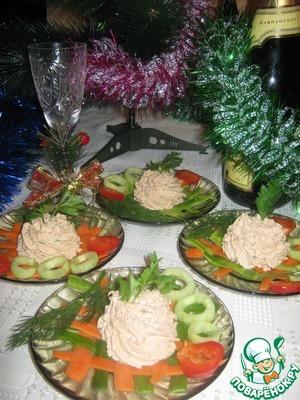 Рецепт Мусс из лосося на овощных ковриках
