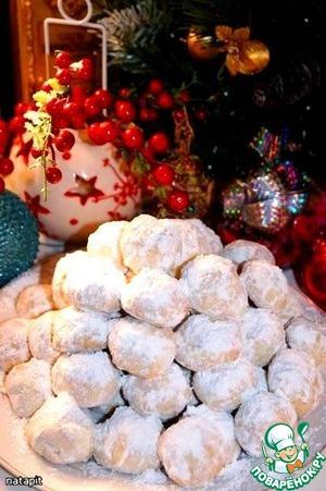 """Рецепт """"Курабьедес""""-рождественское миндальное печенье"""