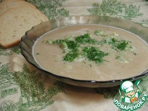 Рецепт Нежный суп-пюре из фасоли с зелеными клецками