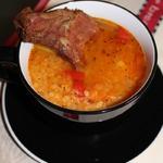 Чечевичный суп с копченым антрекотом