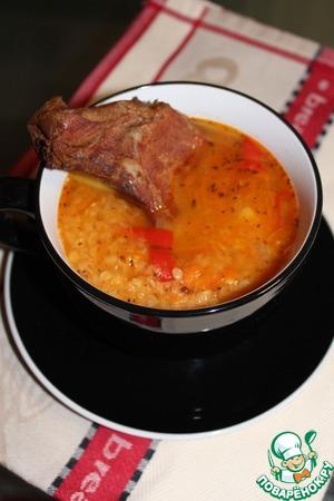 Рецепт Чечевичный суп с копченым антрекотом
