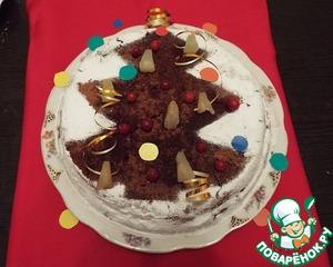 Рецепт Торт «Ананасы в шоколаде»