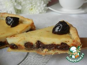 Рецепт Пирог с черносливом в сметанной заливке