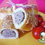 Брабантские хлебцы с домашними колбасками или  Brabantse worstenbroodjes