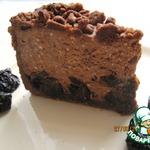 Творожно-шоколадный пирог с черносливом