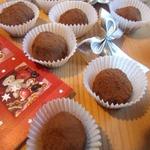 """Десертные конфеты """"Домашние трюфели с фундуком"""""""