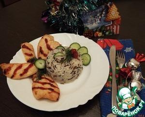 Рецепт Курочка на решетке с рисом