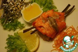Рецепт Дуэт из двух видов рыб с апельсиновым соусом