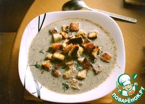 Вкусный рецепт с фотографиями Крем-суп пюре из шампиньонов на сливках