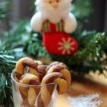"""Песочное печенье """"Посох Деда Мороза"""""""