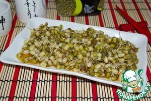 Салат из проросшего маша пошаговый рецепт приготовления с фото