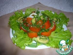 Рецепт Авокадо и помидоры с кайенским перцем