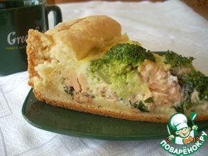 Рецепт Пирог с горбушей и брокколи