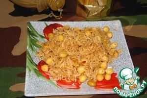 Рецепт Рис с нутом и арахисом