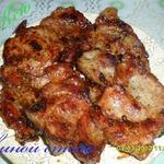 Свиной стейк в кисло-сладком маринаде