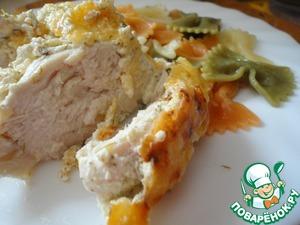 Рецепт Куриное филе под сметанно-чесночным соусом