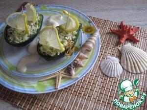 Рецепт Лодочки из авокадо, риса и мяса крабов