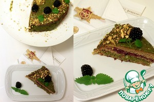 Рецепт Гречневый торт с ежевикой и фисташковым кремом