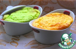 Рецепт Курица под разноцветным рисовым суфле