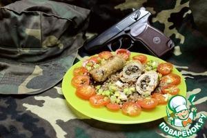 """Рецепт Свиные пальчики """"Боеприпасы солдата"""", фаршированные грибами и сыром"""