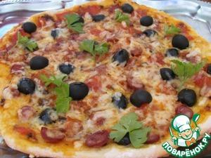 """Рецепт """"Итальянская"""" пицца"""