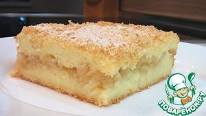 Рецепт Манный пудинг с яблоками