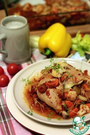 Рецепт Ножки кролика в пиве с овощами