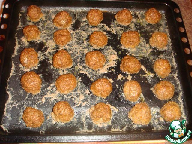 Мясные шарики в духовке рецепт с фото
