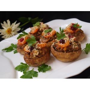 Фаршированные шампиньоны рецепт с фото с креветками