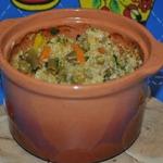 Каша пшеничная с овощами