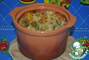 Рецепт Каша пшеничная с овощами
