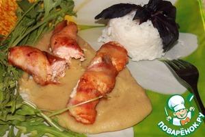 Рецепт Рулетики из семги с сельдереевым муссом