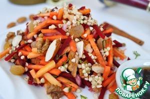 Рецепт Cалат с ростками зеленой гречки