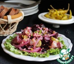 Рецепт Салат с булгуром и сельдью