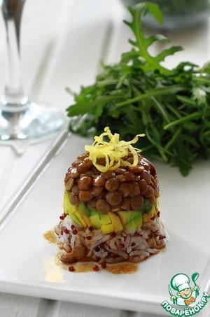 Рецепт Тартар из киноа, авокадо и зеленой чечевицы