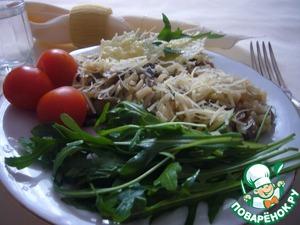 Рецепт Ризотто с грибами, пармезаном и рукколой