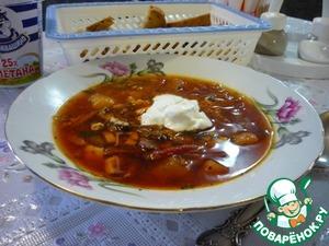 Рецепт Борщ с килькой