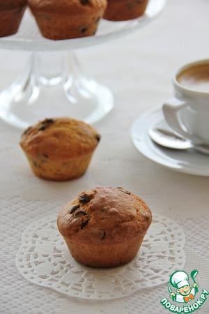 Рецепт Классические маффины с шоколадными каплями