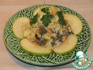 Рецепт Салат из печени с рисом и яблоками