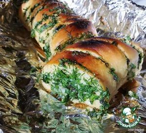 Рецепт Хлеб с травами и чесноком