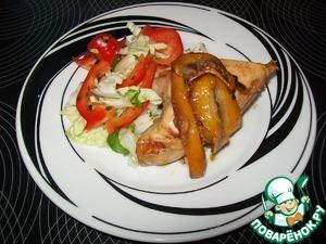 Рецепт Курица, запеченная с лимоном и соевым соусом