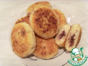 Рецепт Сырнички с начинкой