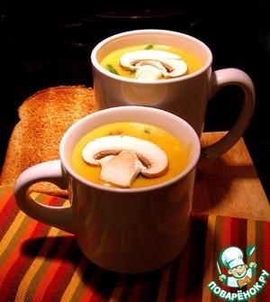 Рецепт Cуп пюре пшённый с грибами