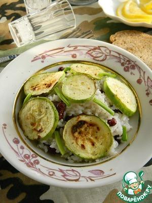 Рецепт Теплый салат с рисом и цуккини