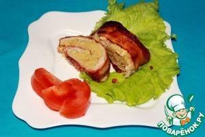 Рецепт Куриный рулет, фаршированный кускусом