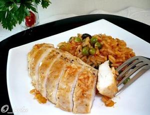 Рецепт Куриные грудки с рисом по-каталонски