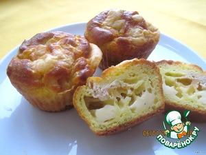 Рецепт Нежнейшие закусочные маффины с сыром, кукурузой и тунцом
